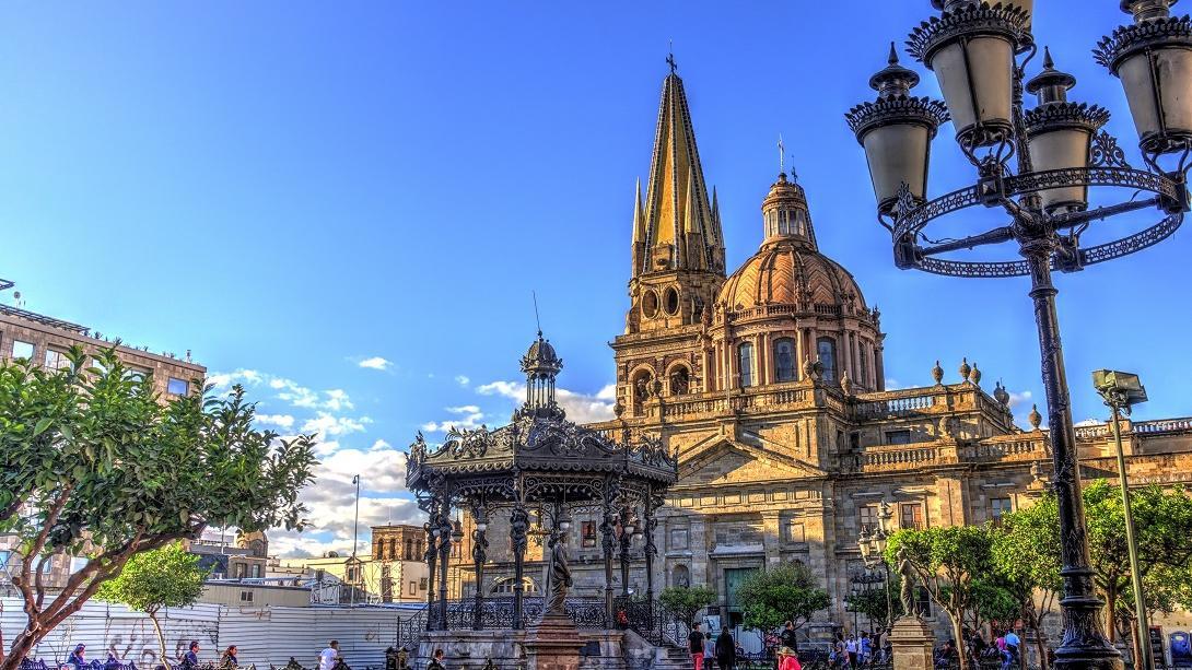 Une cathédrale située à Guadalajara au Mexique.